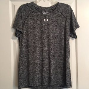 Under armour heathered gray workout top